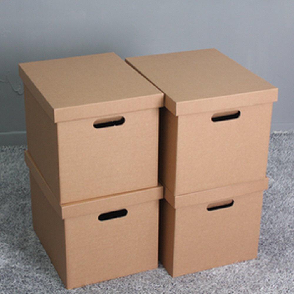 [현재분류명],3겹 크라프트 중형 종이수납함 리빙박스 390X320X245mm 4개,종이수납함,옷정리함,종이수납박스,리빙박스,폴딩박스,서랍식정리함,수납정리함,정리박스,다용도박스,정리