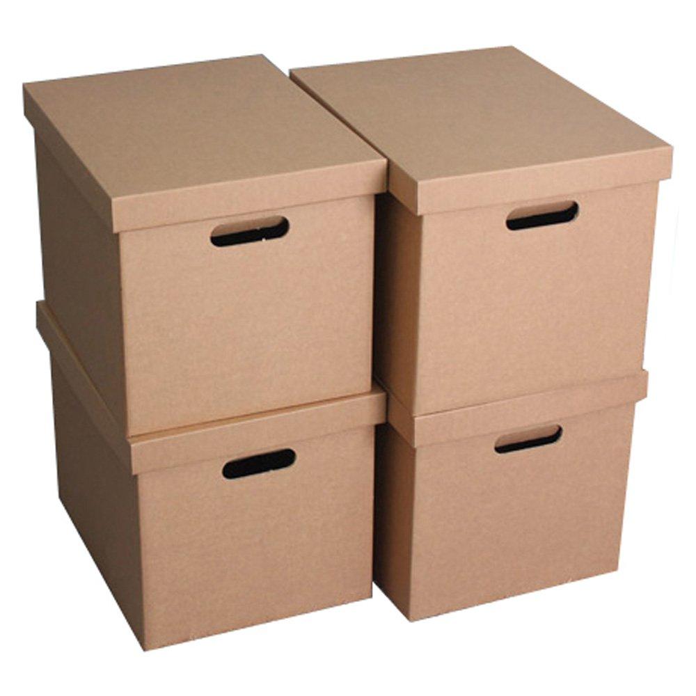 [현재분류명],5겹 크라프트 대형 종이수납함 리빙박스 415X320X320mm 4개,종이수납함,옷정리함,종이수납박스,리빙박스,폴딩박스,서랍식정리함,수납정리함,정리박스,다용도박스,정리